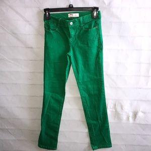 blue/green elastic waist pants size 12 regular